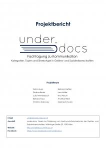 Cover des Projektberichts 2016